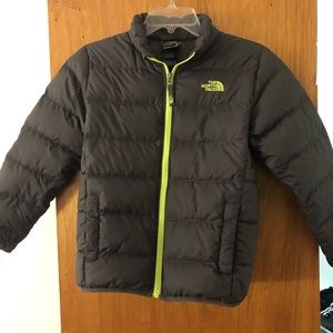 North Face Gray Puffer Jacket Boys Size M 10-12
